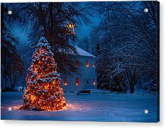 Christmas At The Richmond Round Church Acrylic Print by Jeff Folger