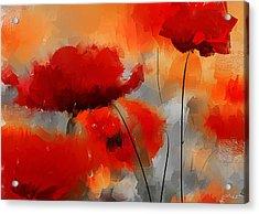 Dream Of Poppies Acrylic Print by Lourry Legarde