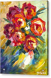 Dream Roses Acrylic Print by Jessilyn Park