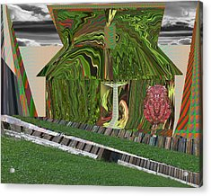 Dream Urban Hut From India What Else Do I Want I Want To Move Away That Drainage There Is Lot Of Spa Acrylic Print