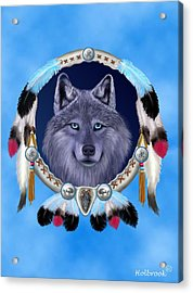 Dream Wolf Acrylic Print by Glenn Holbrook