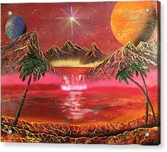 Acrylic Print featuring the painting Dream World by Michael Rucker