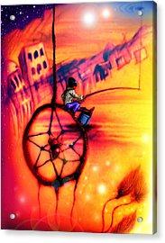 Dreamcatcher Acrylic Print by Ruben Santos