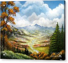 Acrylic Print featuring the painting Dreamin On by Patrice Torrillo
