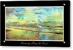 Dreaming Along The Coast -- Egret  Acrylic Print