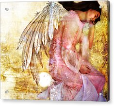 Dreaming Angel Acrylic Print