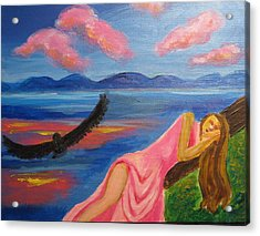 Acrylic Print featuring the painting Dreaming At Eagle Lake by Diana Riukas