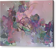Dreaming Of A Rose Garden Acrylic Print by Ursula Freer