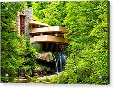 Dreaming Of Fallingwater 3 Acrylic Print by Rachel Cohen