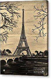Dreaming Of Paris 2 Acrylic Print by Brigitte Emme