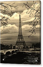 Acrylic Print featuring the painting Dreaming Of Paris by Brigitte Emme