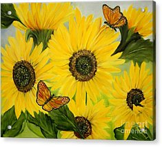 Acrylic Print featuring the painting Dreaming Of Summer by Carol Sweetwood