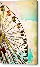 Dreaming Of Summer - Ferris Wheel Acrylic Print by Colleen Kammerer