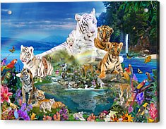 Dreaming Of Tigers  Variation  Acrylic Print