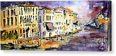 Acrylic Print featuring the painting Dreaming Of Venice Canale Grande by Ginette Callaway