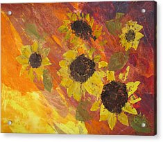 Dreaming Sunflowers Acrylic Print