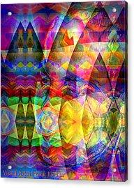 Acrylic Print featuring the digital art Dreaming by Visual Artist Frank Bonilla