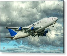 Acrylic Print featuring the photograph Dreamlifter Takeoff by Jeff Cook