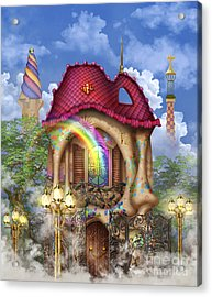 Dreams Of Gaudi Acrylic Print by Ciro Marchetti