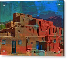 Acrylic Print featuring the mixed media Dreams Of Taos by Michelle Dallocchio