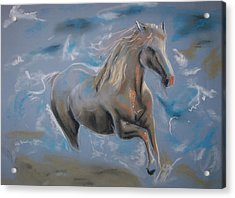 Acrylic Print featuring the pastel Dreamworks by Peter Suhocke