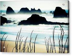 Dreamy Beach Acrylic Print by Debi Bishop