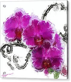 Dreamy Orchids Acrylic Print