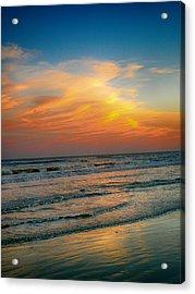 Dreamy Texas Sunset Acrylic Print by Kristina Deane