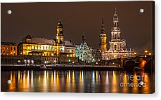 Dresden The Capital Of Saxony I Acrylic Print by Bernd Laeschke