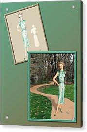 Dress Design 24 Acrylic Print