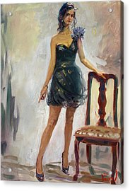 Dressed Up Girl Acrylic Print