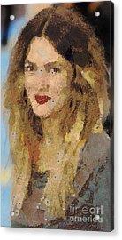 Drew Berrymore Acrylic Print