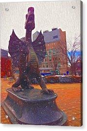 Drexel Dragon Colored Acrylic Print