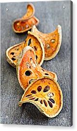 Dried Bael Fruit Acrylic Print by Elena Elisseeva