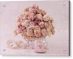 Acrylic Print featuring the photograph Dried Peony Still Life by Sandra Foster