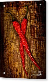 Dried Pepperoni Acrylic Print by Shawn Hempel