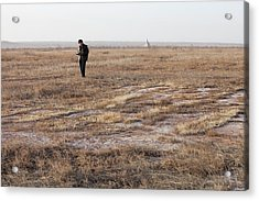 Dried Up Lake Bed From Drought Acrylic Print by Ashley Cooper