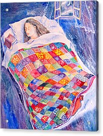 Acrylic Print featuring the painting Drifting To Dreamland by Trudi Doyle