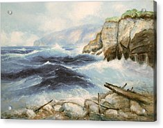 Driftwood Cliffs Acrylic Print by Richard Hinger