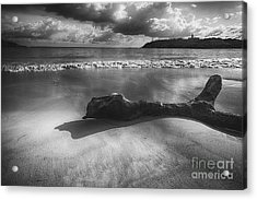 Driftwood On A  Beach Acrylic Print by George Oze