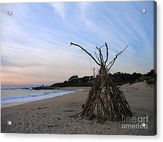 Driftwood Tipi Acrylic Print by James B Toy