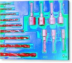 Drill Bits E Acrylic Print