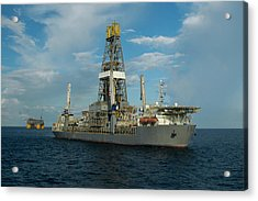 Drill Ship And Platform Acrylic Print