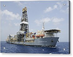 Drillship Discoverer Deep Seas Acrylic Print