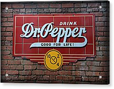 Drink Dr. Pepper - Good For Life Acrylic Print by Stephen Stookey