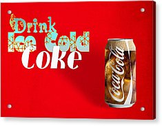 Drink Ice Cold Coke 3 Acrylic Print