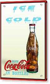 Drink Ice Cold Coke Acrylic Print