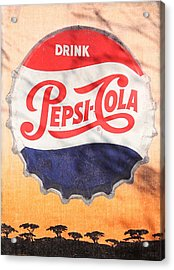 Drink Pepsi  Acrylic Print by Donna Kennedy