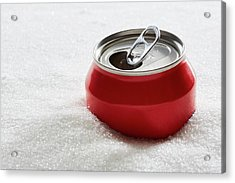 Drinks Can In Sugar Acrylic Print by Kevin Curtis/science Photo Library