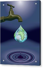 Dripping Tap Acrylic Print by Fanatic Studio / Science Photo Library